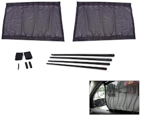 True Vision Car 60cm Curtain Rail Sunshade Set of 2 For Hyundai Eon