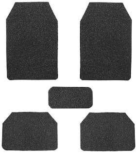 True Vision Car Anti Slip Noodle Floor / Foot Mats Set of 5 Black For Ford Endeavour Type 1 (2004-2007)