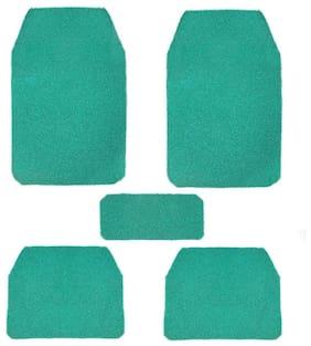 True Vision Car Anti Slip Noodle Floor / Foot Mats Set of 5 Green For Maruti Esteem