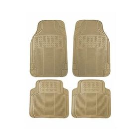 True Vision Car Beige Rubber Floor / Foot Mats For Maruti Ertiga