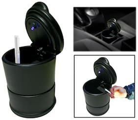 Auto Ryde Designer Ashtray With Blue Led Light For Car / Home / Office