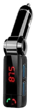 Truetek Led Screen Bluetooth Car Charger 2.1Amp With Turbo Charging Fm Transmitter Compatible With All Smartphones