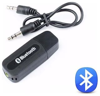 TSV Wireless Adapter 3.5mm AUX Audio Stereo Music Hands free Car Kit Compatible With Samsung Devices