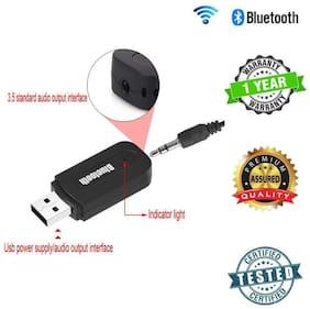 TSV Wireless Bluetooth Receiver Adapter 3.5MM AUX Audio Stereo Music Home Hands free Car Kit