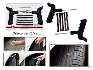 Tubeless Tyre / Tire Puncture Repair Kit with 5 Strips Free for Cars and Bikes