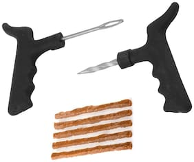 Tubeless Tyre Puncture Repair Kit with 5 Puncture Strip for Car & Bike (Set of 1)