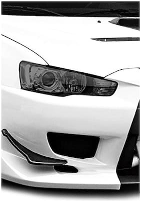 Tufkote Transparent Colored Headlight/Tail Light Tint Film, Self Adhesive (12 x 48 INCHES, GREY)