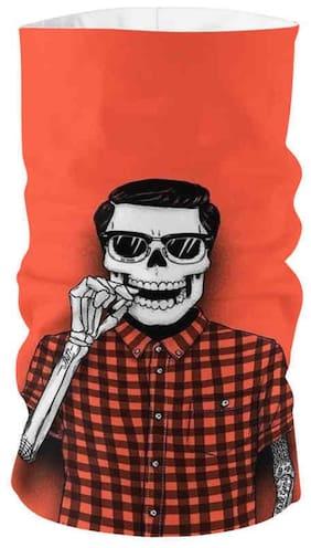 Turdy Unisex Black & White Skull Headwrap / Bandana (Freesize)