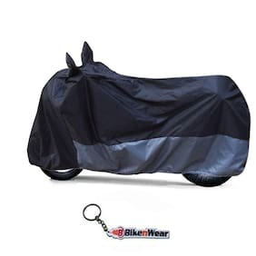 Water Proof  Body Cover For TVS Apache RTR 200 4V- Black-Grey With Key Chain