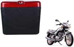 TVS Fiero F2 Dua Polo Matt Black Red Side Box Extra Luggage Box