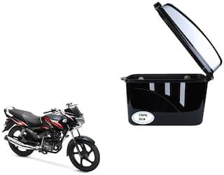 TVS Max 4R Dua Trendy Black Silver Side Box Extra Luggage Box