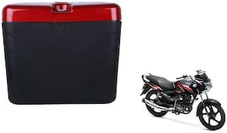 TVS Max 4R Dua Polo Matt Black Red Side Box Extra Luggage Box