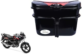 TVS Max 4R Side Luggage Box Vivo Black Red Side Box to carry Extra Luggage for Bikes