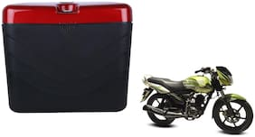 TVS Radeon 125 GX Dua Polo Matt Black Red Side Box Extra Luggage Box