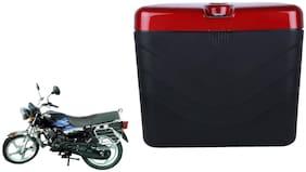 TVS Star HLX 125 Dua Polo Matt Black Red Side Box Extra Luggage Box