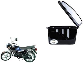 TVS Star HLX 125 Dua Trendy Black Silver Side Box Extra Luggage Box