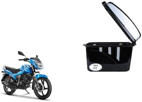 TVS Victor Dua Trendy Black Silver Side Box Extra Luggage Box