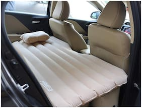 U-Grow Inflatable Car Mattress with Pillow (Beige)