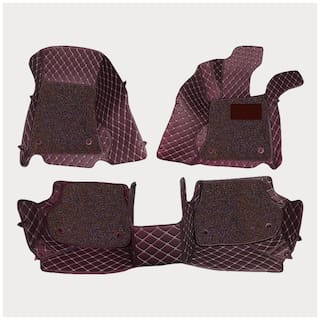 ULS 7D Economy Custom Fitted Car Mats For Tata Zest - Coffee
