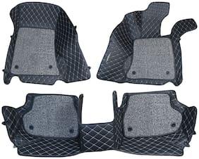 ULS 7D Economy Custom Fitted Car Mats For Hyundai Verna Fludic - Black