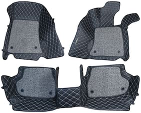 ULS 7D Economy Custom Fitted Car Mats For Hyundai Grand i-10 - Black