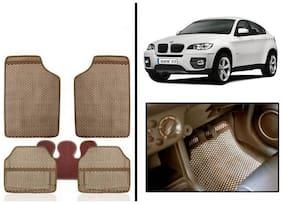 True Vision Beige Odourless Car Floor/Foot Mats Set Of 5 Pcs For BMW-X6