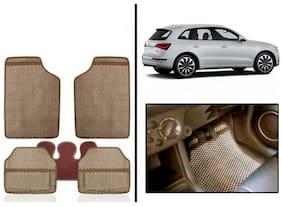 True Vision Beige Odourless Car Floor/Foot Mats Set Of 5 Pcs For audi-Q5