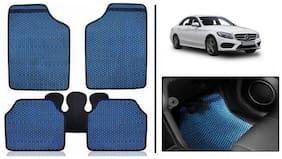 True Vision Blue Odourless Car Floor/Foot Mats Set Of 5 Pcs For Mercedes c-class