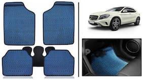 True Vision Blue Odourless Car Floor/Foot Mats Set Of 5 Pcs For Mercedes-Benz GLA