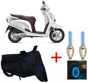 True Vision Champion Bike Body Cover + Tyre LED Blue For Honda aviator