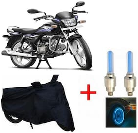 True Vision Champion Bike Body Cover + Tyre LED Blue For Hero spender pro