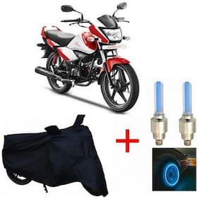 True Vision Champion Bike Body Cover + Tyre LED Blue For Hero I smart
