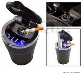 Unique Designer Cigarette Ashtray With Blue Led Light For Car / Home / Office