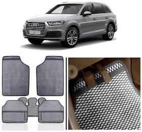 True Vision Grey Odourless Car Floor/Foot Mats Set Of 5 Pcs For Audi-Q7