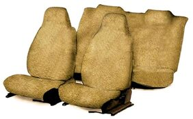 Unique T2 Fixed Front Headrest Beige Towel Seat Covers-Maruti Celerio