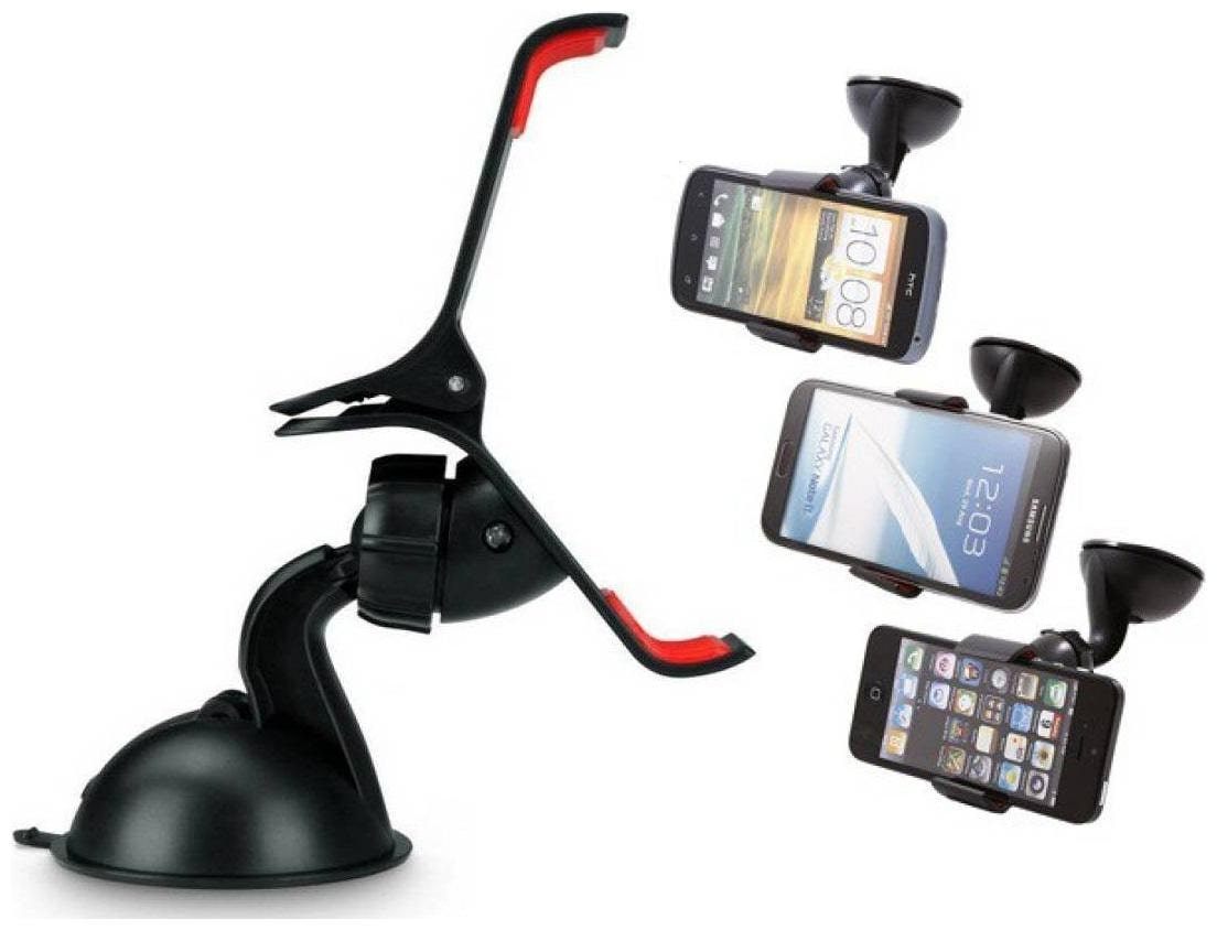 Universal 360 deg Rotating Car Mobile Holder for All Smartphones  Black Color  1Pc by Bazaar Gali