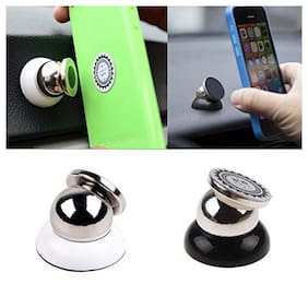 Universal 360 deg Rotating Car Phone Stand,Magnetic Mount Holder (Silver)-Volkswagen Polo Type 1 (2010-2014)