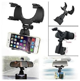 Universal 360 deg Rotation Car Rearview Mirror Mount Holder Stand Cradle for All Mobile Cell Phone for GPS Navigation