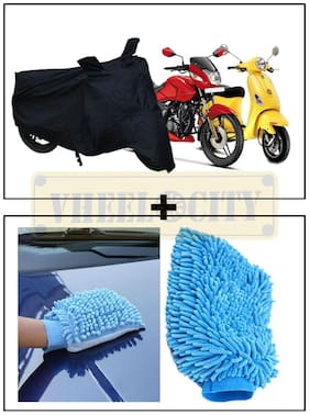 Universal Bike Body Cover + Microfiber Glove for Home / Car Cleaning