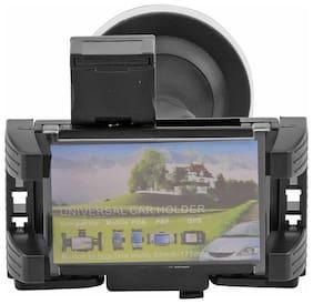 universal car mount shockproof anti skid design mobile phone holder (Black)