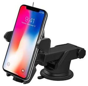 Universal Car Mount Holder for Phone type A / Car Handphone Holder / Long Neck Cradle Stand One Touch Mount Lever for Car Windshield / Dashboard. 360 deg Adjustable