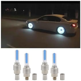 Universal Car/Bike or Bicycle Tyre LED Light with Motion Sensor ( Pack Of 4 )