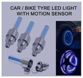 Universal Car/Bike Tyre LED Light with Motion Sensor (Set of 4)