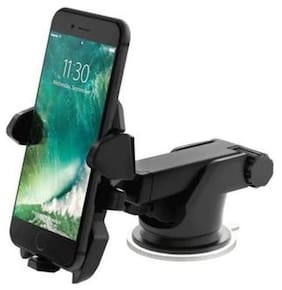 Universal Mobile Stand For Car With Quick One Touch Technology (Expandable & Rotatable) (Black)