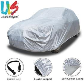 Urbanlifestylers Glaze Waterproof Heat Resistant Car Body Cover Compatible For Maruti Omni - Glaze Silver