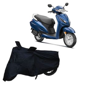 Utkarsh Premium Quality Black Matty Two Wheeler Scooter Scooty Body Cover For Honda Activa 6G With Mirror Pockets