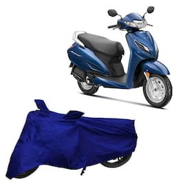 Utkarsh Premium Quality Blue Matty Two Wheeler Scooter Scooty Body Cover For Honda Activa 6G With Mirror Pockets