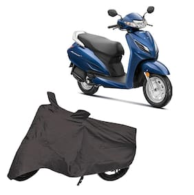 Utkarsh Premium Quality Grey Matty Two Wheeler Scooty Scooter Body Cover For Honda Activa 6G With Miror Pockets