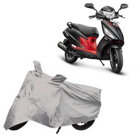 Utkarsh Premium Quality Silver Matty Two Wheeler Scooter Scooty Body Cover For Hero Maestro Edge 125 Bs6 With Mirror Pockets