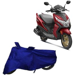 Utkarsh Premium Quality Blue Matty Two Wheeler Scooter Scooty Body Cover For Honda Dio Bs6 With Mirror Pockets